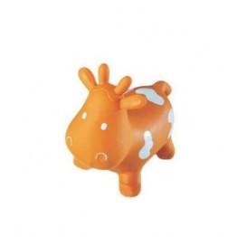 Mucca Gonfiabile Cavalcabile 04 Arancio