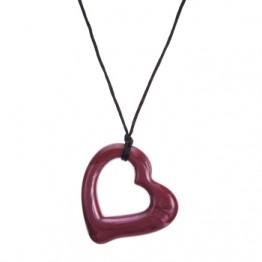 Collana masticabile  - Gioco Cuore Silicone Rosso -