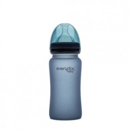 Everyday Baby Biberon Glass M 240 ml 3+ blu