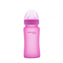 Everyday Baby Biberon Glass M 240 ml 3+ rosa