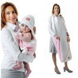Asciugamano neonato Baby hug Azzurro