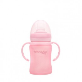 Everyday Baby Glass Sippy Cup 6+ rosa