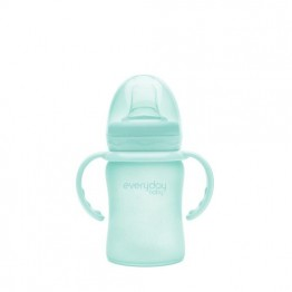 Everyday Baby Glass Sippy Cup 6+ verde