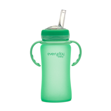Everyday Baby Glass & Strow 240 ml 6+ verde