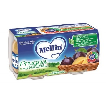 Mellin Omog Prugna/mela 2x100g