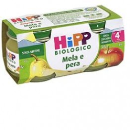 Hipp Bio Omog Mela/pera 80g 2p