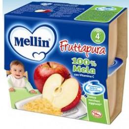 Mellin Frut Pura Mela 4x100g