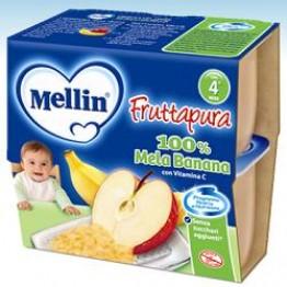 Mellin Frut Pura Mel/ban4x100g