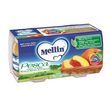 Mellin Omog Pesca/mela 2x100g