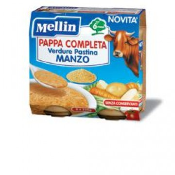Mellin Pappa Compl Manzo2x250g