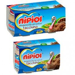 Nipiol Omog Tacchino 120gx2pz