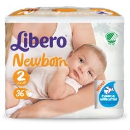 Libero Newborn Pannolini 2 36pz